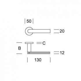 2H15 - nerezová klika-technický list