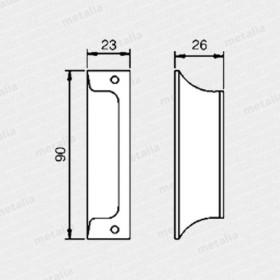 madlo na balkonové dveře - bronz-technický list