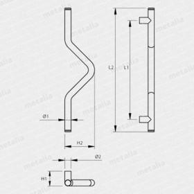 madlo Design nerez 4802-technický list