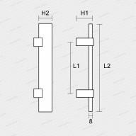 madlo 1059 - nikl mat/černé-technický list