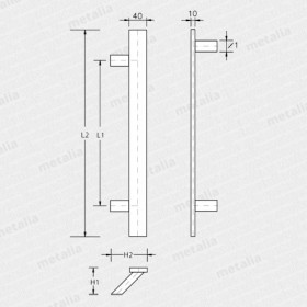 madlo Ponte 45°-technický list