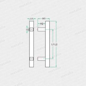 objektové madlo PH50-technický list