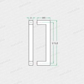 objektové madlo PH54-technický list