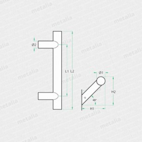 objektové madlo PH90-technický list