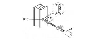 madlo jednostranné zátěžové - montáž na dřevo, hliník, PVC