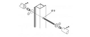 madlo oboustranné - montáž na dřevo, hliník, PVC