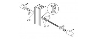 madlo oboustranné záťažové - montáž na dřevo, hliník, PVC